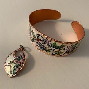 Cuff Bracelet and Pendant